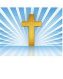 Kreuz im Himmel/im Vektor Stockfoto