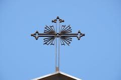 Kreuz, Kirche von Johannes der Evangelist in Florenz, Italien Lizenzfreie Stockfotografie