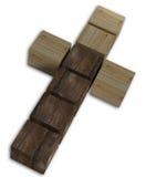 Kreuz lokalisiert auf Weiß Lizenzfreies Stockbild