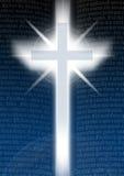 Kreuz mit Bilble Text Stockbilder