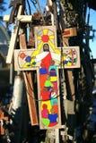 Kreuz mit Christ Lizenzfreies Stockbild