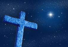 Kreuz nachts lizenzfreie abbildung