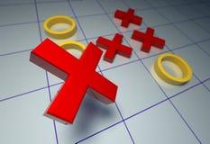 Kreuz-null stockbild