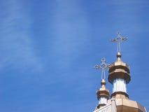 Kreuz u. Himmel Stockfoto