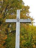 Kreuz und Jesus Christ, Litauen lizenzfreies stockbild
