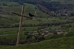 Kreuz und Krähe lizenzfreies stockfoto