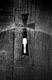Kreuz und Schlüsselloch Stockbilder