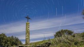 Kreuz und Sterne Stockbild