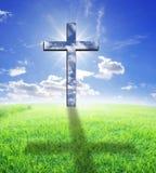 Kreuz und Tageslicht Lizenzfreie Stockfotos