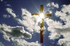 Kreuz und Wolken Stockbilder