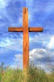 Kreuz und Wolken Lizenzfreies Stockfoto