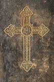 Kreuz vom alten Buch stockbilder