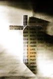 Kreuz von Jesus und von Wort Lizenzfreie Stockfotografie