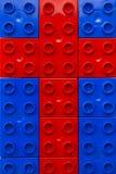 Kreuz von Legos Stockfoto