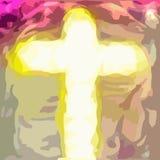 Kreuz von Retter Jesuss Christus lizenzfreie abbildung
