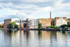 Kreuzberg and Spree river Royalty Free Stock Photos