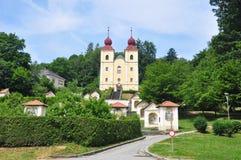 Kreuzberglkirche w Klagenfurt, Austria fotografia royalty free