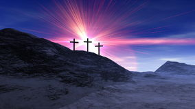 Kreuze auf Kalvarienberg lizenzfreie abbildung