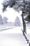 Kreuze im Schnee Stockfotos