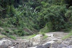 Kreuzen der Salween-Fluss stockbild