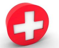 Kreuzen Sie das Symbol von Medizin Lizenzfreie Stockbilder