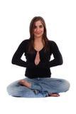 Kreuzen Sie mit Beinen versehene Frau Lizenzfreie Stockfotos
