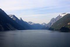 Kreuzende Fjorde von Norwegen Lizenzfreies Stockbild