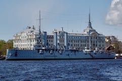 Kreuzer-Aurora im St Petersburg Russland Lizenzfreies Stockfoto