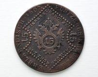 15 Kreuzer-muntstuk van Oostenrijk-Hongarije Stock Fotografie