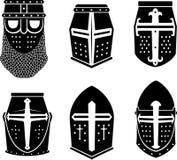 Kreuzfahrer-Kriegers-großer Helm Lizenzfreie Stockfotos