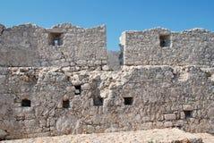 Kreuzfahrerschloß, Halki Insel Lizenzfreie Stockfotografie