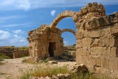 Kreuzfahrerschloß saranta kolones in Zypern Lizenzfreies Stockbild