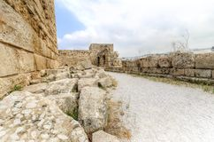 Kreuzfahrerschloss, Byblos, der Libanon Stockbilder