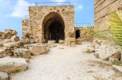 Kreuzfahrerschloss, Byblos, der Libanon Stockfotografie