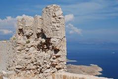 Kreuzfahrerschlossruinen, Halki Stockfotografie
