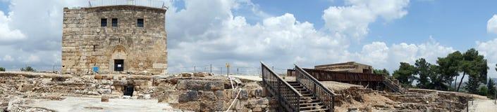 Kreuzfahrerzitadelle und -ruinen stockbilder