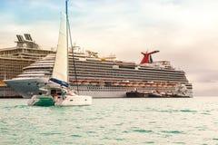 Kreuzfahrt-Hafen-St. Maarten Stockfotografie
