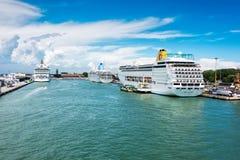 Kreuzfahrt-Hafen von Venedig, Italien Stockfotos
