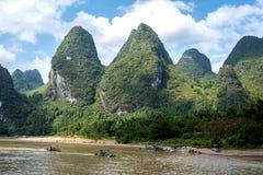 Kreuzfahrt von Guilin zu Yangshuo Lizenzfreies Stockfoto
