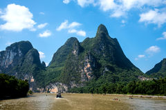 Kreuzfahrt von Guilin zu Yangshuo Lizenzfreies Stockbild