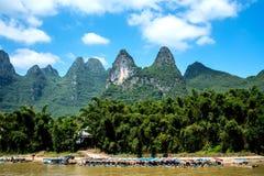 Kreuzfahrt von Guilin zu Yangshuo Lizenzfreie Stockfotografie