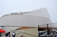 Kreuzfahrtanschluß von Matosinhos in Portugal stockbild