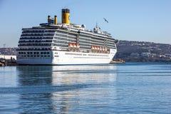 Kreuzfahrtschiff Costa Mediterranea, Tanger, Marokko Lizenzfreies Stockbild