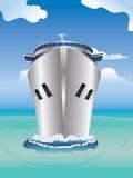 Kreuzfahrtschiff im Meer Lizenzfreie Stockbilder