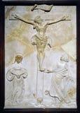 Kreuzigung mit Mary und Johannes stockfotografie