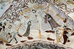 Kreuzigung, Wandbild vom 1400s Stockbild