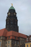 Kreuzkirche在德累斯顿 免版税库存图片