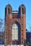 Kreuzkirche - православная церков церковь в Калининграде (до Koenig 1946 Стоковые Фотографии RF