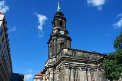 Kreuzkirche - Church of the Holy Cross in Dresden Germany is the Royalty Free Stock Photography