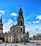 Kreuzkirche - Holy Cross Church on a sunny day, the main Lutheran church in Dresden and most spacious church in Saxony. Stock Photography